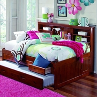 Houghton Full Size Daybed - Side Bookcase, Merlot Finish