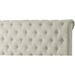 Serina Button Tufted Platform Bed - Taupe, Antique Brass Nailhead - EGL-EAG8050GTE-BED