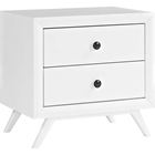 Tracy 2 Drawers Nightstand - White