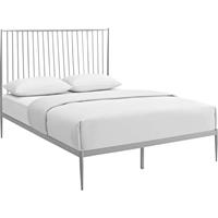 Annika Queen Platform Bed - Gray