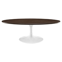 "Lippa 48"" Oval Coffee Table - Walnut"