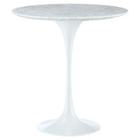 "Lippa 20"" Marble Side Table - White"