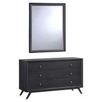 Tracy Dresser and Mirror - Black