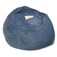 Small Beanbag in Blue Micro Suede