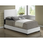 Cameron Twin Leatherette Bed, White