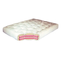 8 Wool Wrap Full Futon Mattress - Model 613