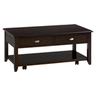 Merlot Cocktail Table - Casters, 2 Drawers