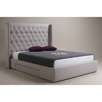 Blair 2 Drawers Bed - Cappuccino