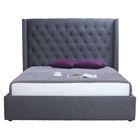 Blair 2 Drawers Bed - Gray