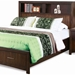 Edison Queen Storage Bed - Bookcase Headboard, Java Oak - NSI-516002BQ