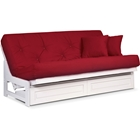 Arden Complete Armless Futon Set - White Frame, Clean Timeless Design, Comfortable Mattress Options