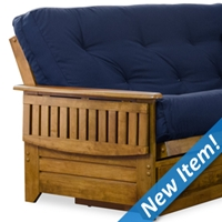 Brentwood Futon Frame and Mattress Set - Heritage Finish