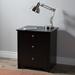 Vito Nightstand - 1 Sliding Tray, 2 Drawers, Pure Black - SS-3170060