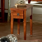 Davenport Chairside End Table in Dark Cherry
