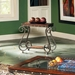 Ellery Chairside End Table with Metal Scroll Accents - SSC-EL550EC