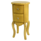 Wooden Cabinet - 2 Drawers, Yellow