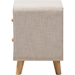 Jonesy Upholstered 2 Drawers Nightstand - Beige - WI-BBT3140-BEIGE-NS-XD02