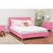 Barbara Faux Leather Full Bed - Crystal Button Tufted, Pink - WI-BBT6140-FULL-PINK