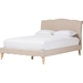 Fannie Fabric Platform Bed - Curved Headboard - WI-BBT6571-BED