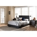 Atlas Faux Leather Full Platform Bed - Black - WI-BSL098-FULL-BLACK