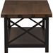 Herzen 1 Shelf Coffee Table - Antique Black and Brown - WI-CA-1117-CT