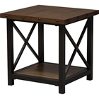 Herzen 1 Shelf End Table - Antique Black and Brown