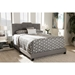 Brunswick Upholstered Bed - Button Tufted - WI-CF8747-K-BED