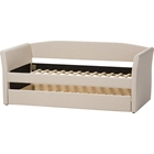 Camino Fabric Upholstered Daybed - Guest Trundle Bed, Beige