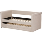Alena Daybed with Trundle - Light Beige