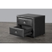 Winston 2 Drawers Nightstand - Black - WI-JS-NS-010-BLACK