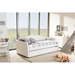 London Faux Leather Twin Daybed - Roll-Out Trundle Bed, White - WI-LONDON-WHITE-DAYBED