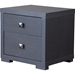 Marco 2 Drawers Nightstand - Dark Brown - WI-P-2DW-NS
