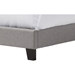 Ramon Upholstered Queen Bed - Nailheads, Gray - WI-RAMON-QUEEN-GRAY