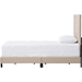 Paris Upholstered Twin Tufted Bed - Beige - WI-WA1212-TWIN-BEIGE