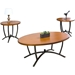 Manchot 3-Piece Table Set - Black, Beige - WI-WR-C32-CT-AT