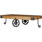 Lancashire Coffee Table - Casters, Brown