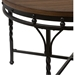 Austin Round Coffee Cocktail Table - Brown, Antique Bronze - WI-YLX-2687-CT