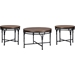 Austin 3-Piece Occasional Table Set - Brown, Antique Bronze - WI-YLX-2687-CT-ET