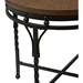 Austin Round End Table - Brown, Antique Bronze - WI-YLX-2687-ET