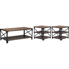 Greyson 3-Piece Occasional Table Set - Antique Bronze, Brown