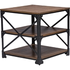Greyson 2 Shelves End Table - Antique Bronze, Brown