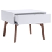 Padre End Table - Walnut and White - ZM-100149