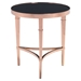 Elite Side Table - Rose Gold and Black - ZM-100346